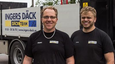 Mobilt däckservice team för entreprenadmaskiner och fordon